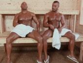 Sexo Gay na Sauna com Negros Sarados e Dotados