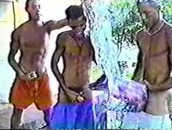Homens Negros Nus de Vara Dura